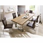Tischgruppe Castello Eiche bassano / Stuhl Edward IV braun verschiedene Varianten
