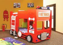 Feuerwehrbett Doppelbett inkl. Matratze + Rost