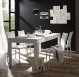 Esszimmertisch Sigrid 160x79cm in Weiß Hochglanz lackiert