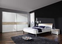 Schlafzimmer-Set Alicia 4-teilig in Weiß Sahara