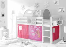 Motiv Vorhangstoff Horse (pink) 3-teilig 196 x 74 x 88 cm