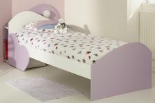 Kinderbett Sumi 90x200cm in Weiß-Lila Melamin