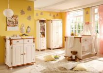 Babyzimmer Lara 5-teilig Kiefer Honig weiß
