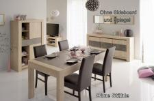 Tischgruppe Vico - Set 2-Teilig - Eiche / Steinoptik