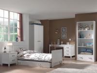 Mädchenzimmer Set Iny 6-teilig in Weiß MDF