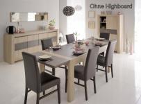 Tischgruppe Vico - Set 6-Teilig-B - Eiche / Steinoptik