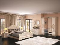 Schalzimmer-Set Esperanza 4-teilig in beige Glanz