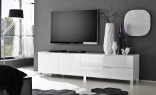 TV Lowboard weiß Hochglanz SOL 210 cm