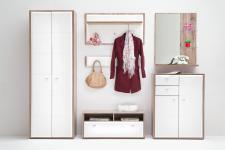Garderoben Set Almina 6-teilig in Weiß San Remo Eiche