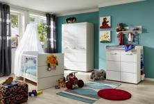 Babyzimmer Set Sammi 3- teilig in Weiß