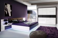 Schlafzimmer Set Fennia 4- teilig in Weiß Hochglanz