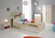 Kinderzimmer Tesso Akazie Weiß 5 teilig