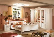Schlafzimmer Set Joana 2-teilig in Pinie Weiß massiv