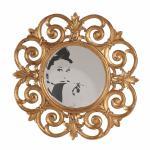 Spiegel Pomp goldfarbig 103 x 103 x 5 cm