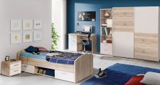 Jugendzimmer-set Jesper 4- teilig in Sandeiche-Weiß