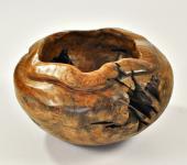 Gefäß-Schale aus Teakholz 40 cm
