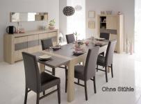 Tischgruppe Vico - Set 5-Teilig - Eiche / Steinoptik