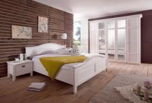 Schlafzimmer Gerrit 2-teilig in Pinia Weiß massiv