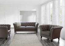 Sofa 2, 5-Sitz Norfolk Leder, stone