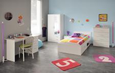 Jugendzimmer Infinity komplett 5-teilig in weiss