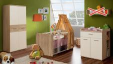 Babyzimmer Lucky 5-teilig Weiß-Eiche Sonoma