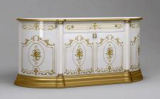 Sideboard Julianna 4-türig in Gold Weiß