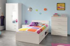 Kinderzimmer-set Infinity 4-teilig in weiss
