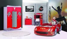 Autobettzimmer Set Turbo 4-teilig Fivex Rot