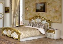 Doppelbett Julianna 180 x 200 cm in Weiß Gold