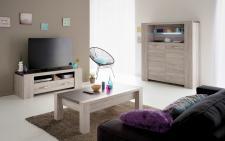 Wohnzimmer Set Melody 3-teilig in Portofino-Melamin