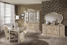 Esszimmer-Set Julianna 4 teilig in Beige Glanz