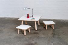 Mitwachsender Tisch Grow quadratisch in verschiedenen Ausführungen