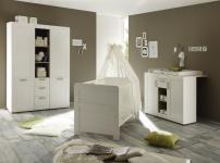 Babyzimmer Set Caty 3-teilig in Pinie Weiß