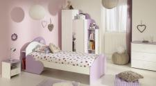Kinderzimmer Sumi 5-teilig in Weiß-Lila