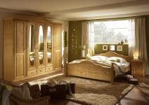 Schlafzimmer Set Flamin 2-teilig in Pinie massiv gelaugt