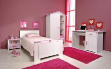 Kinderzimmer Biotiful 4-tlg in weiss-rosa