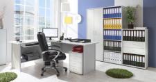Büro- und Arbeitszimmer Sascha lightgrey Smallset (5-teilig)