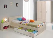 Kinderzimmer Tesso in Akazie Weiß 3 teilig