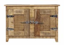 Unterschrank Badio mit 2 Türen aus Mangoholz massiv
