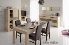 Tischgruppe Vico - Set 4-Teilig - Eiche / Steinoptik