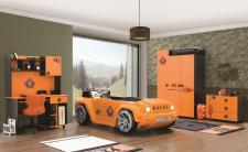 Autobettzimmer Offroad Hamer in orange schwarz