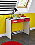 Schreibtisch Sandi in Rot-Weiß