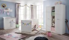 Babyzimmer Set Boney 3-teilig in Weiß