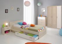 Kinderzimmerset Tesso Akazie Weiß 4 teilig