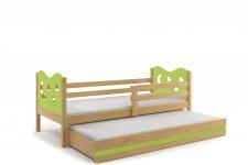 Kinderbett Stasy in Kiefer mit Sternen und Gästebett