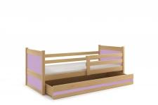 Kinderbett Joko in Kiefer mit Bettkasten in verschiedenen Farben