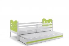 Kinderbett Stasy in Weiß mit Sternen und Gästebett