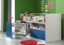Bunny Hochbett 90x200 mit Schreibtisch in verschiedenen Farben