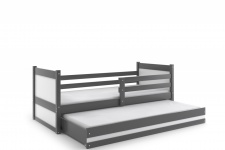 Kinderbett Joko in Grau mit Gästebett in verschiedenen Farben