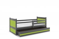 Kinderbett Joko in Grau mit Bettkasten in verschiedenen Farben